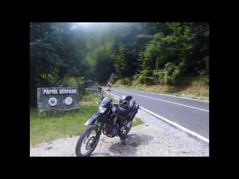 MOTO ROUTE CROATIA-- route DARUVAR-JANKOVAC dirt road through nature of Geo park Papuk Croatia