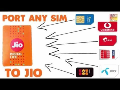CONVERT ANY SIM TO JIO-PORT ANY SIM AIRTEL,VODAFONE ETC TO JIO 4G - VERY EASY