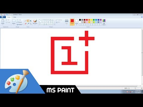 How to Draw OnePlus logo in MS Paint from Scratch!