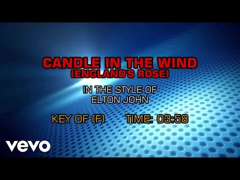 Elton John - Candle In The Wind (England's Rose) (Karaoke)