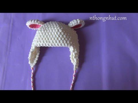 Hướng dẫn móc nón len: nón lông cừu ( mũi hạt bắp)
