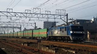 JR貨物 56列車 EF210-165号機[吹]+コキ車17両編成(福山レールエクスプレス)