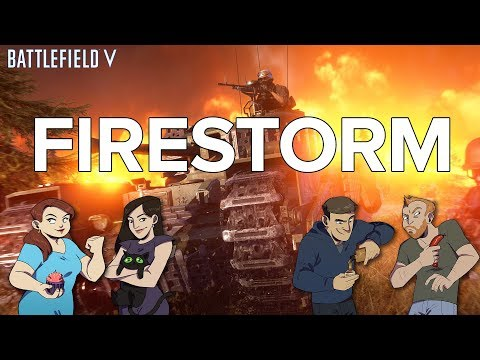 Let's Play Battlefield V Battle Royale Firestorm gameplay - STORMING THE NEW MAP UPDATE!