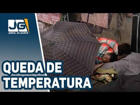 Morador de rua sofre com temperatura baixa