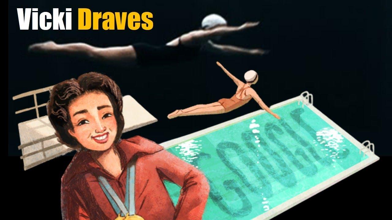 Google Doodle honors Vicki Draves, Filipino American Olympic diver