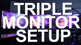 """TRIPLE MONITORS ACER G276HL (27"""") SETUP"""