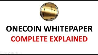 Onecoin White paper Completely explained | Hindi urdu