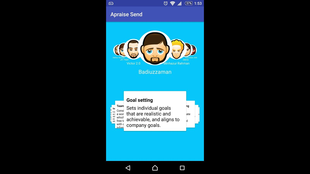 Android Carousel with Circular Image and Card