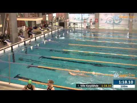 4 100m Selkäuinti Miehet Heat 2 15 57 15