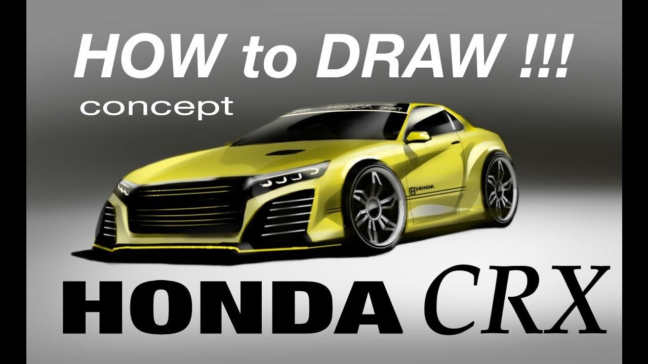 Honda Crx Acura Concept 2018 Image Time Lapse Desenho Automobilistico