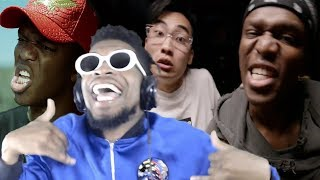 """OMG WHY IS PEWDIEPIE IN HERE!?! KSI """"Little Boy"""" & """"Earthquake"""" DISS TRACKS REACTION!"""