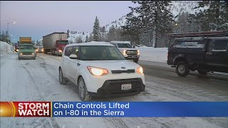 Chain Controls Lifted On I-80, But Expect A Lot Of Traffic