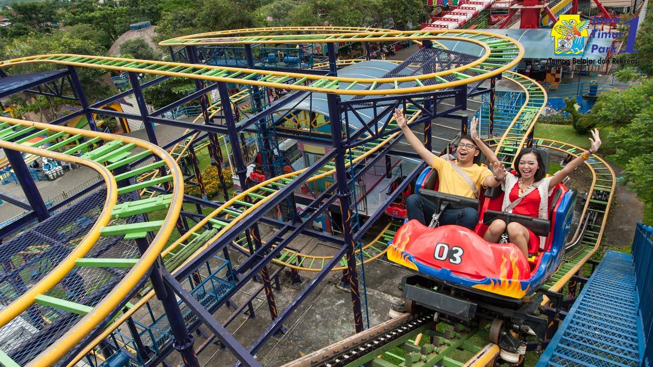 Wahana Ekstrim Spining Coaster Jatim Park 1 Youtube