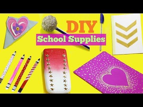 DIY School supplies! 7 Easy DIY crafts for back to school