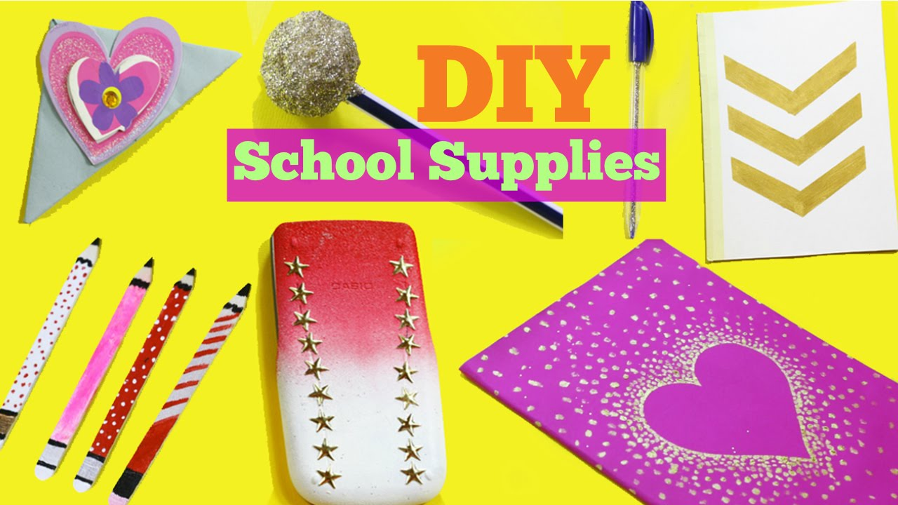 diy school supplies 7 easy diy crafts for back to school youtube