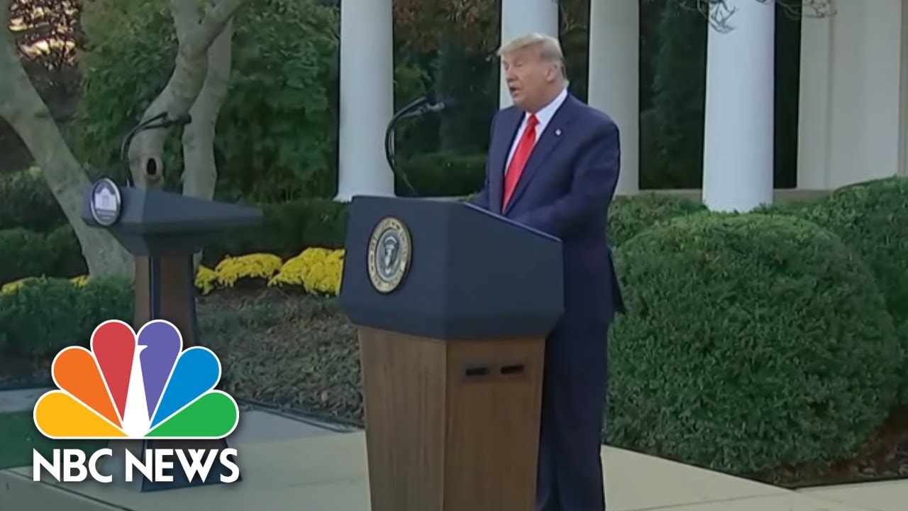 Trump Addresses Americans For First Time Since Election Defeat   NBC Nightly News