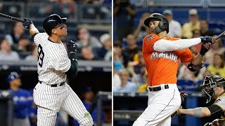 Welcome to New York Giancarlo Stanton!|Aaron Judge x Giancarlo Stanton Highlights (HD)