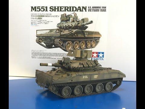 Building the all new 1/35  Tamiya M551 Sheridan all new tool kit.