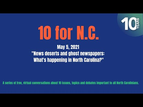 News deserts and ghost newspapers: What's happening in North Carolina