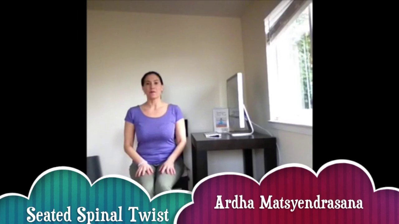 SunLight Chair Yoga: yoga is for everyone! DVD: 1 Minute Spinal Twist at Work