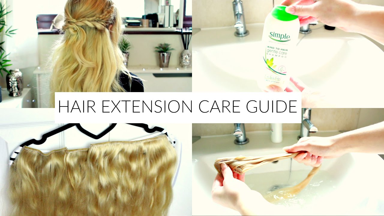 How To Care For Clip In Hair Extensions Youtube