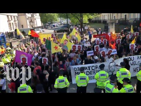 Erdogan's London visit prompts protests