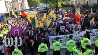 Erdogan's London visit prompts protests