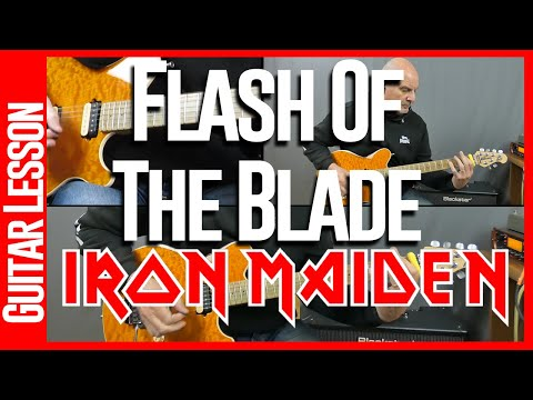 Flash Of The Blade By Iron Maiden - Guitar Lesson