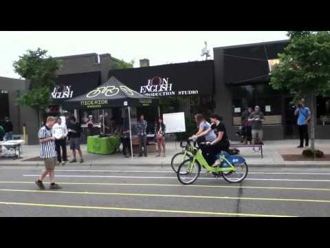 Open Street Minneapolis slow bike race