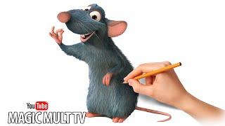 Как нарисовать Реми Из Мультфильма Рататуй  How To Draw And Remi Ratatouille