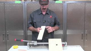 How To Use A Tile Snap Cutter