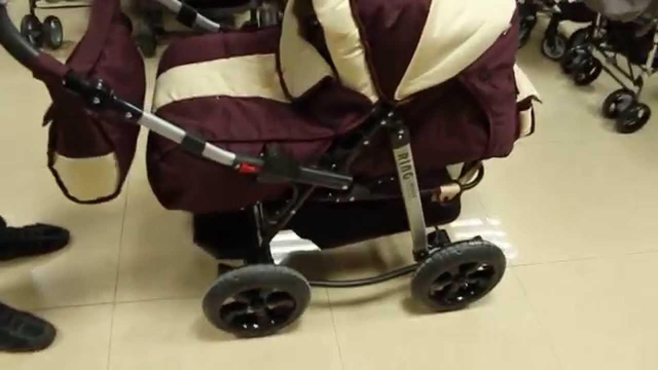 Обзор коляски Navington Caravel - классика с поворотными колесами .