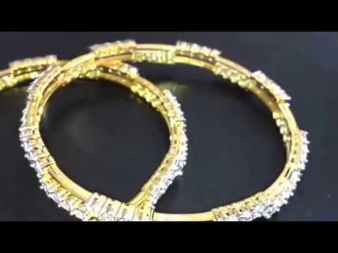 indian style patti chudi diamond bangle design youtube