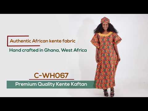 Kente African print dress from Ghana