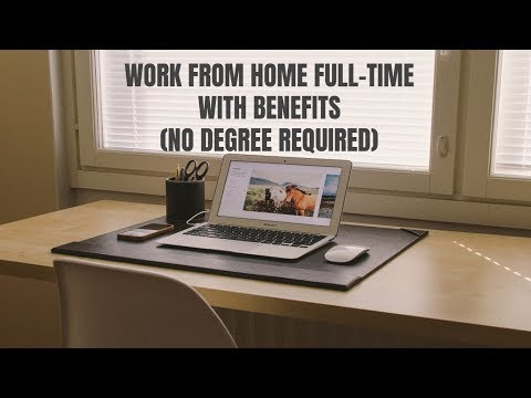 Work From Home Full-Time with Benefits at This New Job (No Degree)