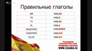 Спряжение глаголов в испанском языке!