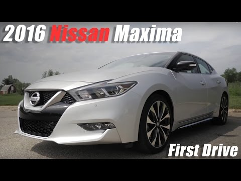 2016 nissan maxima first drive youtube. Black Bedroom Furniture Sets. Home Design Ideas