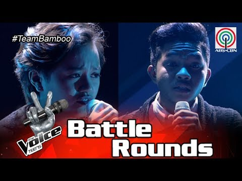 The Voice Teens Philippines Battle Round: Andrea vs. Emarjhun - Hallelujah