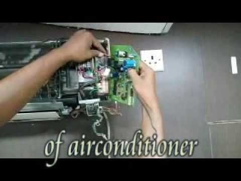how to change the pcb of air conditioner - YouTube