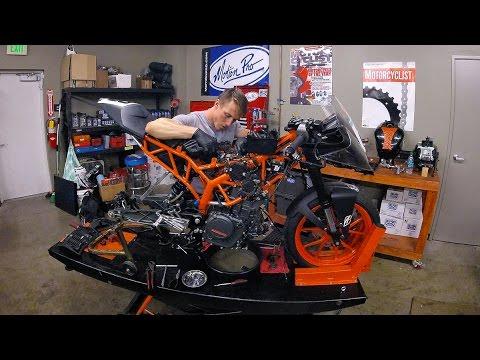 ktm rc390 engine removal timelapse video | mc garage