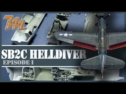 Curtiss SB2C-4 Helldiver 1/72 Cyber Hobby - plastic scale model step by step build - part 1