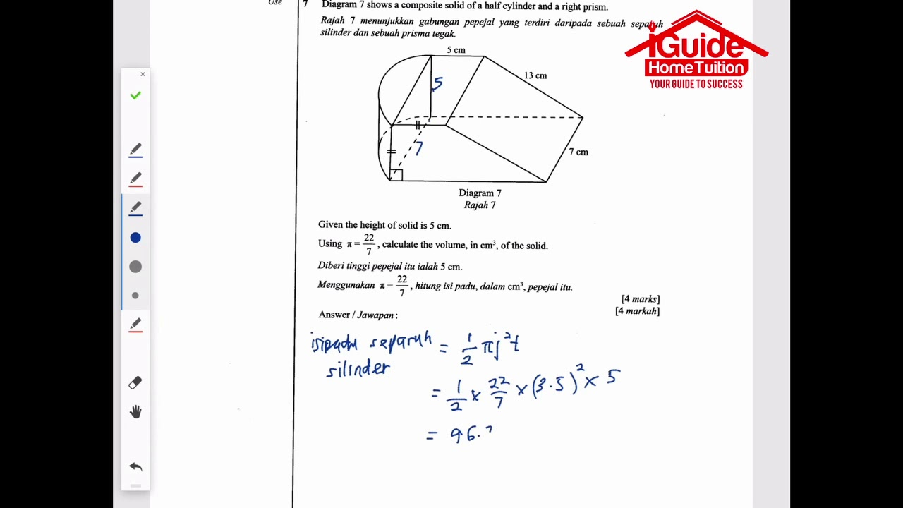 Tutorial Soalan Matematik Percubaan Spm 2017 Iguide Home Tuition