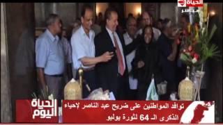 بالفيديو.. المواطنون يتوافدون على قبر عبد الناصر في ذكرى «23 يوليو»