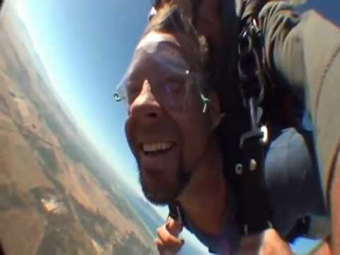 Roxy skydives with Richard Whitaker on Marc Hyland's Birthday