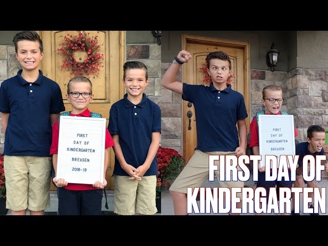 OLDER BROTHERS HELP SHY YOUNGER BROTHER ON HIS FIRST DAY OF KINDERGARTEN | FIRST DAY AT NEW SCHOOL