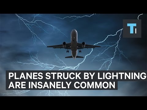 A plane struck by lightning is more common than you might think