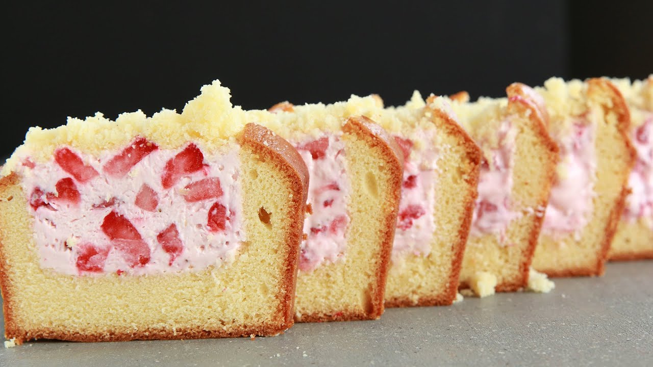 Strawberry CheesecakeStuffed Pound Cake YouTube