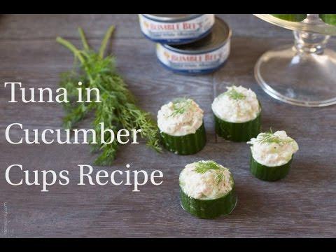 Tuna in Cucumber Cups Recipe