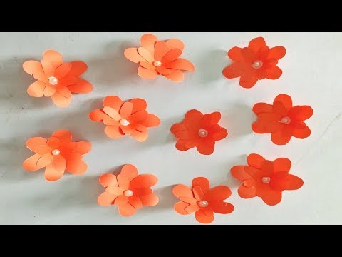 Very Easy and Simple Flower making with paper DIY Paper Flowers