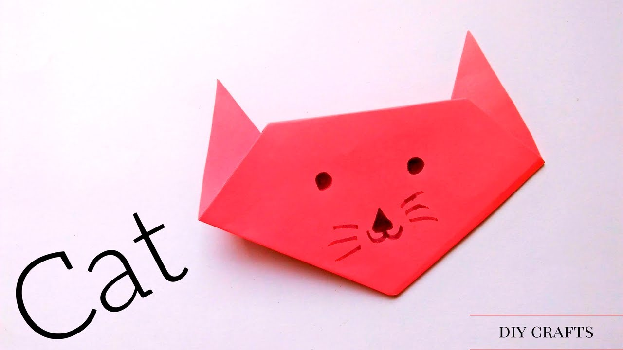 how to make an origami cat face step by step cute and